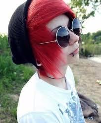 55 emo boy with black hair