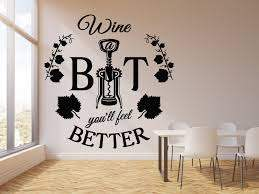 Vinyl Wall Decal Wine Corkscrew Bottle Alcohol Bar Quote Restaurant St Wallstickers4you