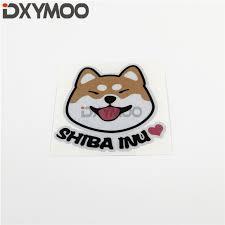 Pet Dog Car Sticker Decals Animal Cute Shiba Inu Heart Love Motorcycle Bike Home Decoration Bumper Shop The Nation