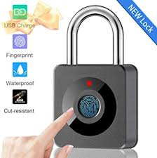 Fingerprint Lock Smart Waterproof Fingerprint Padlock Ideal For Gym Luggage Backpack Employee Locker Bike Suitcase Fence Hasp And Storage Back To School Supplies Amazon Com