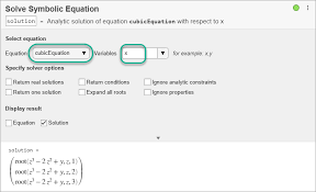 solve algebraic equation using live