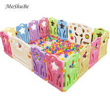 Hot Sale Baby Playpens For Indoor Outdoor Kids Play Yard Children Baby Ball Pool Fence Kids Activity Gear Plastic Barrier Game Fence October 2020