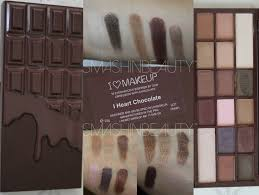 chocolate palette swatches makeup