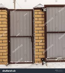 Retractable Gate On Fence Winter Stock Photo Edit Now 1290288913