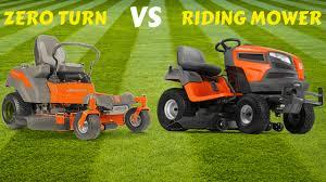 zero turn vs riding mower differences