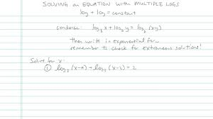 logarithmic equation with multiple logs