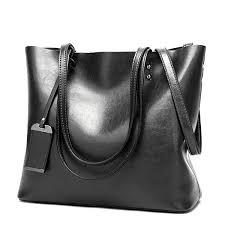 women oil leather tote handbags vintage