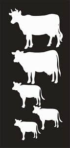 Cow Family Farm Animal 776 Vinyl Window Decal Sticker For Car Truck Laptop Ebay