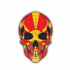 Yjzt 9 5cm 14 4cm Car Styling Macedonia Flag Window Skull Car Sticker Decal 6 1430 Car Stickers Aliexpress