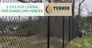 5 Tips For Caring For Chain Link Fences Turner Fence