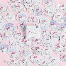 1pcs Kt Kawaii Cat Decorative Pattern Wall Stickers Kids Rooms Wall Decals Art Poster Photo Wallpaper Home Decor Mural Decal Wall Stickers Aliexpress