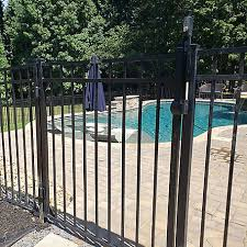Fortress Athens Three Rail 5 Ft W X 4 Ft H Black Aluminum Gate 413480544m At Tractor Supply Co