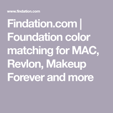 foundation color matching for mac