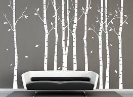 Tree Wall Decal 9 Birch Trees Decals Forest Wall Decals Winter Etsy