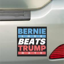 Bernie Beats Trump Car Magnet Zazzle Com