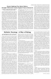 PDF) Holistic nursing: a way of being