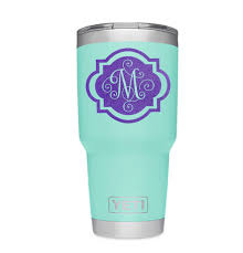 Initial Monogram Decal Stickers For Yeti Tumblers Car Windows Glass Doors Sold By Bumbum Vinyldesigns On Storenvy