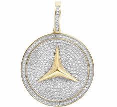 10k yellow gold mercedes medallion