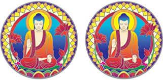 Amazon Com Buddha Nature Window Sticker Decal 2 Circular 2 25 Translucent Arts Crafts Sewing