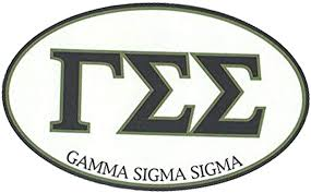 Amazon Com Greekgear Gamma Sigma Sigma Euro Style Sticker Automotive