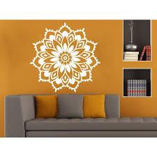 Shop Beautiful Flower Mandala Wall Art Sticker Decal White Overstock 11966038