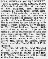 Minerva Smith Lockard obituary - Newspapers.com