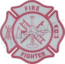 Firefighter Reflective Decal Fire Fighter Pink Maltese Cross Car Sticker T 79 Ebay