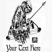 Custom Grim Reaper Bow Archery Hunting Deer Car Truck Window Vinyl Decal Sticker 20 73 Picclick
