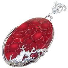 fancy red jasper sterling silver