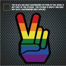 V Shape Gesture Rainbow Car Window Decal 3 5 5 Inch Gay Decoration Gay Pride Stickers Buy Car Window Decal Gay Pride Stickers Gay Stickers Product On Alibaba Com