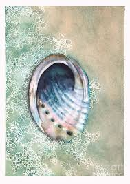 Abalone Painting by Hilda Wagner