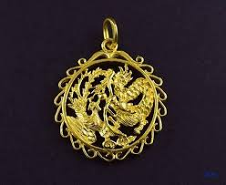 24k gold dragon bird chasing pearl