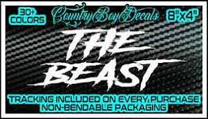 The Beast Vinyl Decal Sticker Diesel Truck Jdm Car Turbo Boost Lifted Stance Neo Ebay