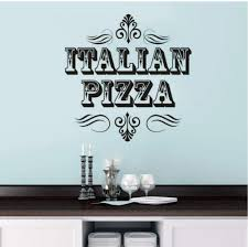 Amazon Com Mrqxdp Italian Pizza Sign Wall Sticker Store Window Decals Restaurant Interior Decoration Pizzeria Vinyl Wall Art Mural 42x42cm Decorativo Habitacion Cameretta Adesiva Muro Kitchen Dining