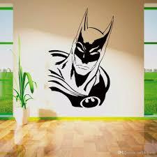 Sticker Silhouette Boys Kids Bedroom Superhero Bed5 Batman Logo Vinyl Wall Art