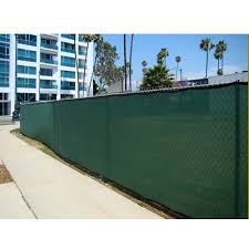 Green Mesh Outdoor Privacy Screen Fence 06 X 50 Finished Size 5 8 X 49 3 Tarps Tie Downs