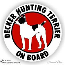 Decker Giant Rat Terrier Decals Stickers Nickerstickers