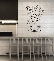 Vinyl Wall Decal Coffee Shop Quote Cup House Decoration Idea Stickers Wallstickers4you