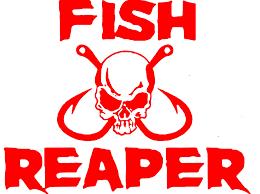 Custom Fish Reaper Outdoor Large Decal Window Sticker Fisherman Skull Hook Vinyl Decal Sold By Big Tees Printing On Storenvy