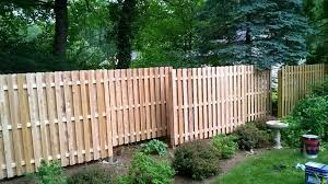 White Cedar Shadowbox Fence Staggered In This Landscape White Cedar Home Landscaping Wood Fence