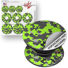 Decal Style Vinyl Skin Wrap 3 Pack For Popsockets Wraptorcamo Old School Camouflage Camo Lime Green Popsocket Not Included By Wraptorskinz Walmart Com Walmart Com