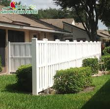 China Good Look Widely Used Vinyl Plastic Semi Privacy Fence Panels For Sale China North American Style Fence Pool Fence