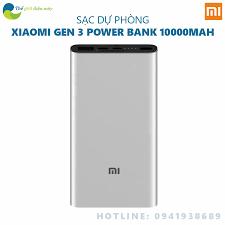 Sạc dự phòng Xiaomi type C 18W 10000 mAh Gen 3 Pro - Bảo hành 6 ...