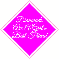 Diamonds Are A Girl S Best Friend Decal U S Custom Stickers