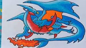 Vẽ pokemon rồng - vẽ pokemon kết hợp thành Rồng lửa - YouTube