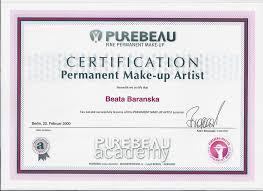 makeup artist certificate
