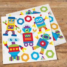 Robots Peel Stick Kids Wall Decal Cutouts Art Appeel