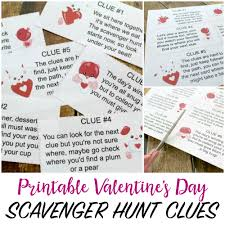 valentine s day scavenger hunt for kids
