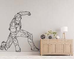 Iron Man Avengers Wall Decal Kids Room Decor Superhero Wall Art Marvel Art Gift Bedroom Wall Mural J941 Buy At The Price Of 7 13 In Aliexpress Com Imall Com