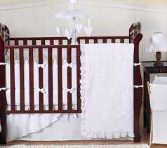 white baby bedding set white eyelet by
